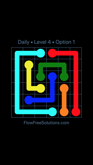 Solution and Answer to the Puzzle for Flow Date Sunday, April 3, 2016 Level 4