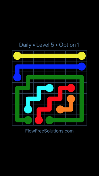 Solution and Answer to the Puzzle for Flow Date Sunday, June 26, 2016 Level 5