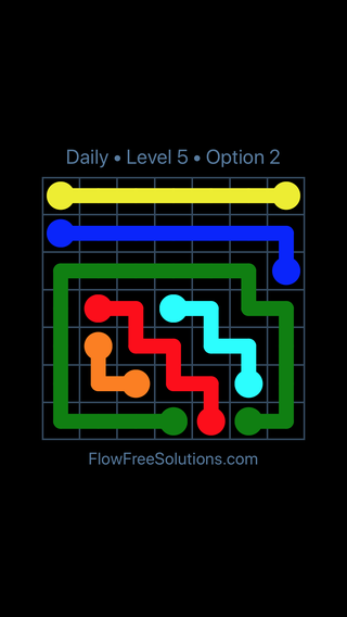 Solution and Answer to the Puzzle for Flow Date Sunday, April 3, 2016 Level 5