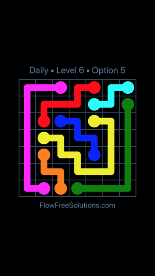 Solution and Answer to the Puzzle for Flow Date Sunday, June 26, 2016 Level 6