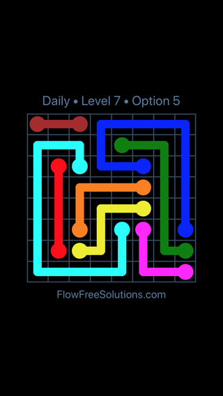 Solution and Answer to the Puzzle for Flow Date Sunday, June 26, 2016 Level 7