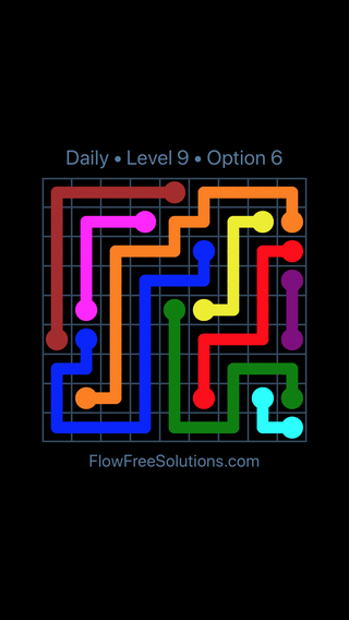 Solution and Answer to the Puzzle for Flow Date Sunday, April 3, 2016 Level 9