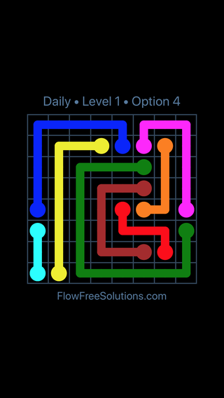 Solution and Answer to the Puzzle for Flow Date Monday, June 27, 2016 Level 1