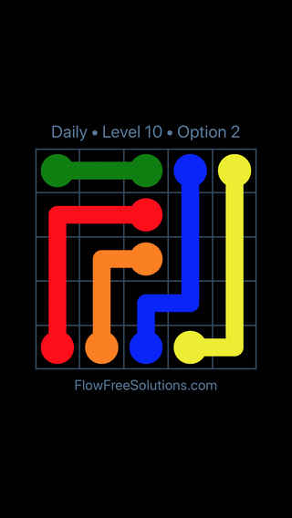 Solution and Answer to the Puzzle for Flow Date Monday, January 7, 2019 Level 10