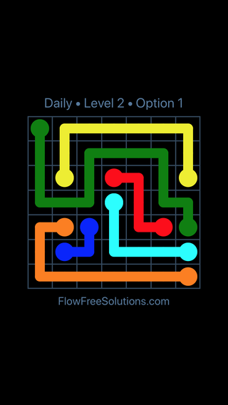 Solution and Answer to the Puzzle for Flow Date Monday, April 4, 2016 Level 2