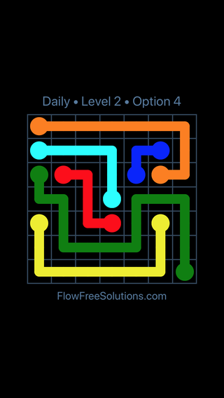 Solution and Answer to the Puzzle for Flow Date Monday, January 7, 2019 Level 2