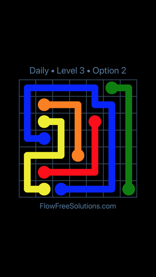 Solution and Answer to the Puzzle for Flow Date Monday, January 7, 2019 Level 3