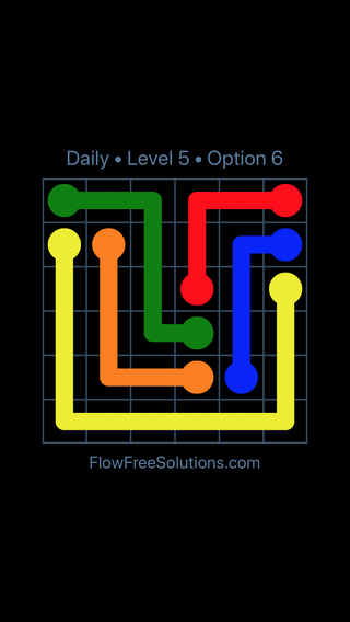 Solution and Answer to the Puzzle for Flow Date Monday, June 27, 2016 Level 5
