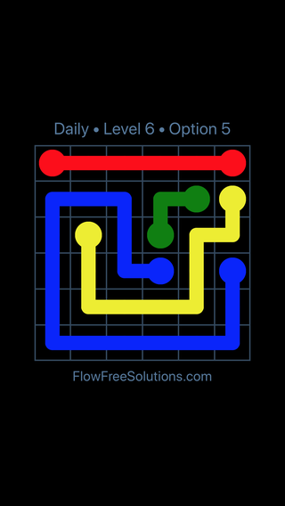 Solution and Answer to the Puzzle for Flow Date Monday, April 4, 2016 Level 6