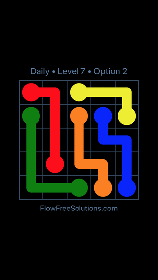 Solution and Answer to the Puzzle for Flow Date Monday, January 7, 2019 Level 7