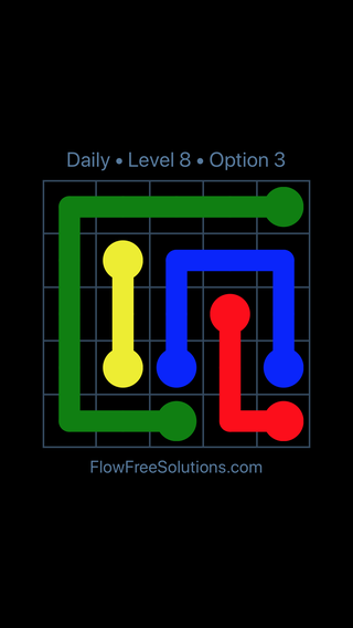 Solution and Answer to the Puzzle for Flow Date Monday, April 4, 2016 Level 8