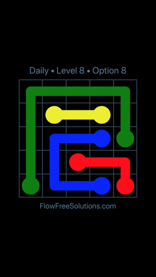 Solution and Answer to the Puzzle for Flow Date Monday, January 7, 2019 Level 8