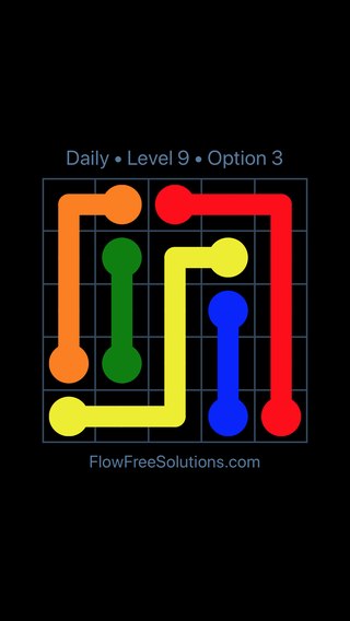 Solution and Answer to the Puzzle for Flow Date Monday, January 7, 2019 Level 9
