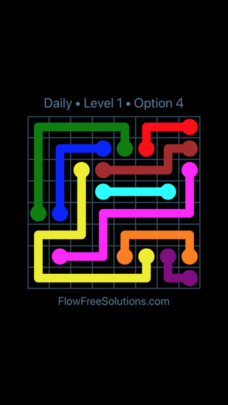 Solution and Answer to the Puzzle for Flow Date Wednesday, June 1, 2016 Level 1