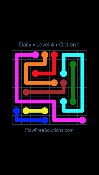 Solution and Answer to the Puzzle for Flow Date Wednesday, June 1, 2016 Level 4