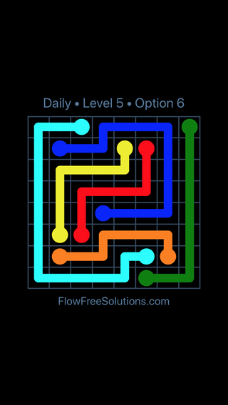Solution and Answer to the Puzzle for Flow Date Wednesday, June 1, 2016 Level 5