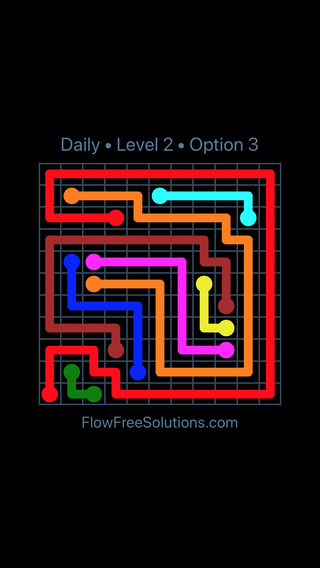 Solution and Answer to the Puzzle for Flow Date Tuesday, June 28, 2016 Level 2