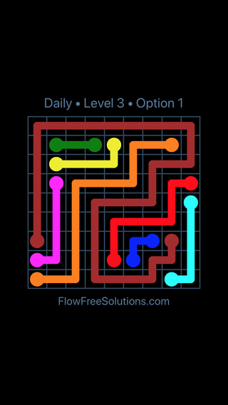 Solution and Answer to the Puzzle for Flow Date Tuesday, June 28, 2016 Level 3