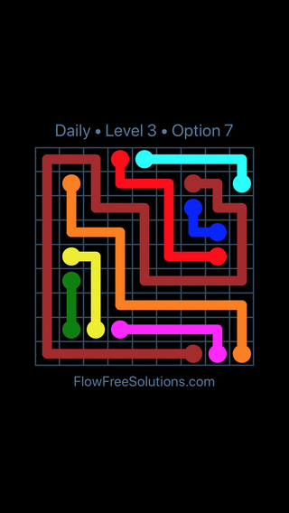 Solution and Answer to the Puzzle for Flow Date Tuesday, January 8, 2019 Level 3