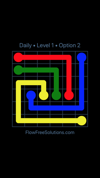 Solution and Answer to the Puzzle for Flow Date Wednesday, April 6, 2016 Level 1