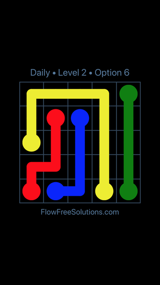 Solution and Answer to the Puzzle for Flow Date Wednesday, April 6, 2016 Level 2