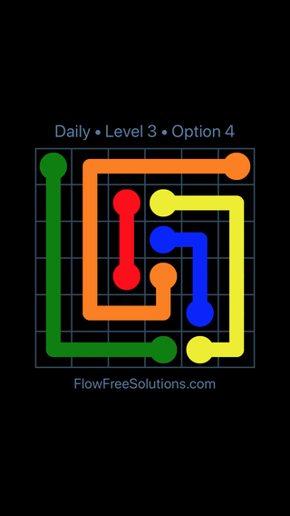 Solution and Answer to the Puzzle for Flow Date Wednesday, April 6, 2016 Level 3