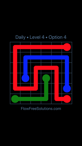Solution and Answer to the Puzzle for Flow Date Wednesday, April 6, 2016 Level 4