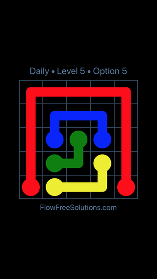 Solution and Answer to the Puzzle for Flow Date Wednesday, April 6, 2016 Level 5