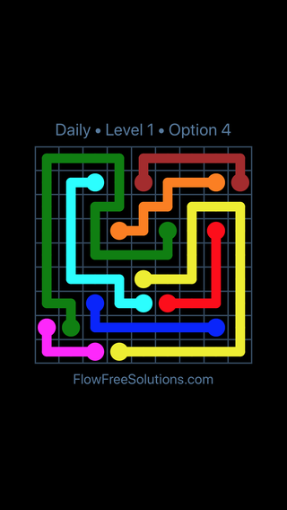 Solution and Answer to the Puzzle for Flow Date Thursday, April 7, 2016 Level 1