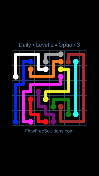 Solution and Answer to the Puzzle for Flow Date Thursday, April 7, 2016 Level 2