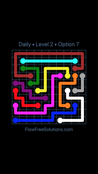 Solution and Answer to the Puzzle for Flow Date Thursday, January 10, 2019 Level 2