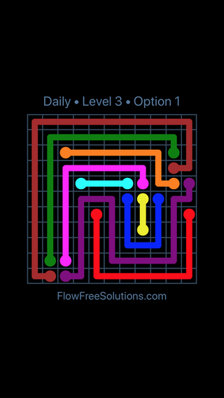 Solution and Answer to the Puzzle for Flow Date Thursday, June 30, 2016 Level 3