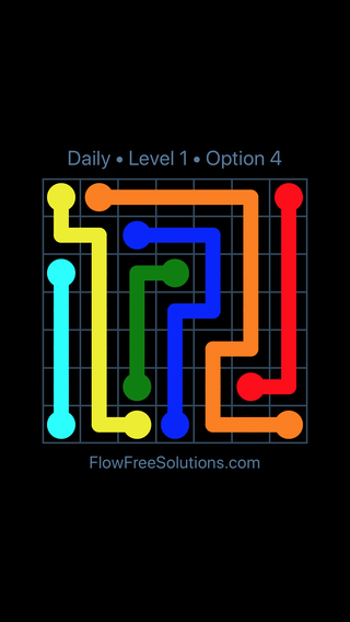 Solution and Answer to the Puzzle for Flow Date Friday, April 8, 2016 Level 1