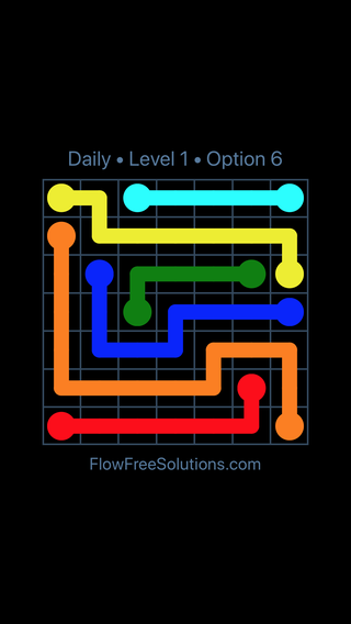 Solution and Answer to the Puzzle for Flow Date Friday, January 11, 2019 Level 1