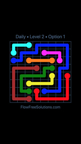 Solution and Answer to the Puzzle for Flow Date Friday, April 8, 2016 Level 2