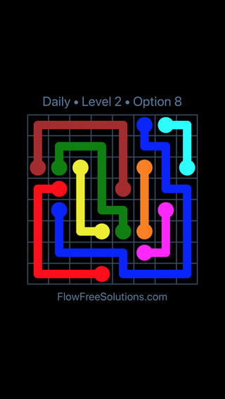 Solution and Answer to the Puzzle for Flow Date Friday, January 11, 2019 Level 2