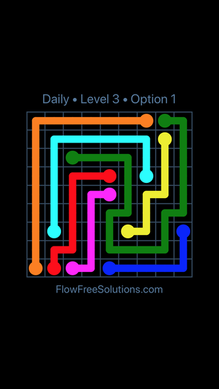 Solution and Answer to the Puzzle for Flow Date Friday, April 8, 2016 Level 3