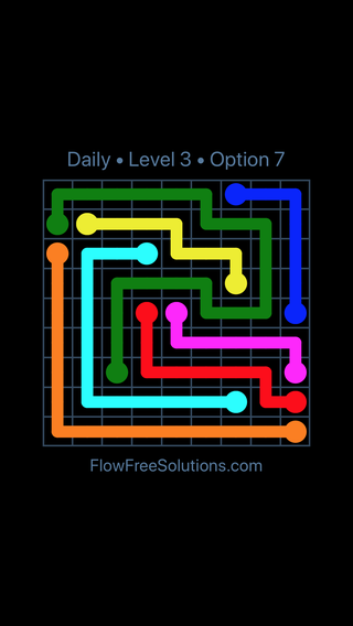 Solution and Answer to the Puzzle for Flow Date Friday, January 11, 2019 Level 3