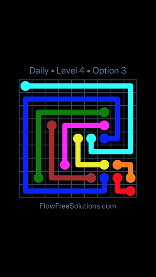 Solution and Answer to the Puzzle for Flow Date Friday, January 11, 2019 Level 4
