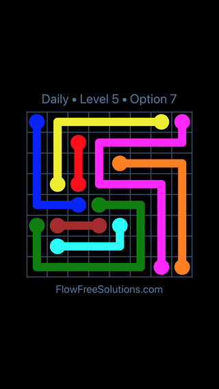 Solution and Answer to the Puzzle for Flow Date Friday, January 11, 2019 Level 5