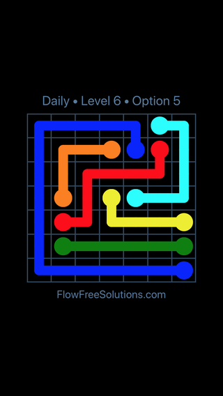 Solution and Answer to the Puzzle for Flow Date Friday, April 8, 2016 Level 6