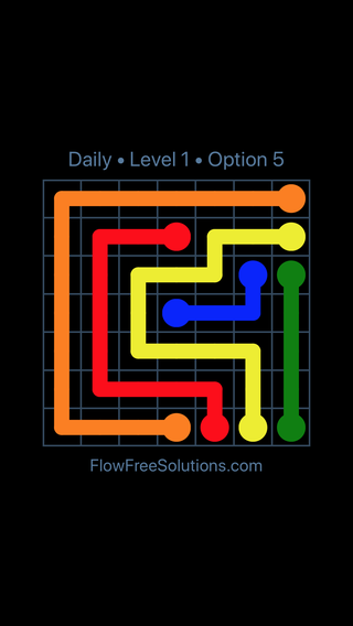 Solution and Answer to the Puzzle for Flow Date Saturday, April 9, 2016 Level 1