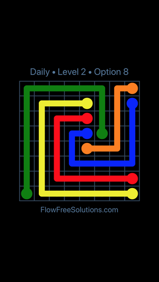 Solution and Answer to the Puzzle for Flow Date Saturday, January 12, 2019 Level 2