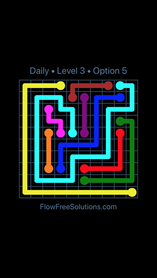 Solution and Answer to the Puzzle for Flow Date Saturday, April 9, 2016 Level 3