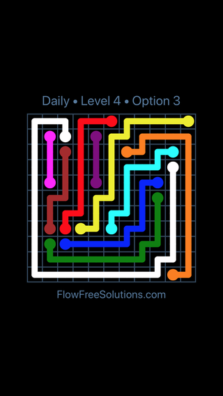Solution and Answer to the Puzzle for Flow Date Saturday, July 2, 2016 Level 4