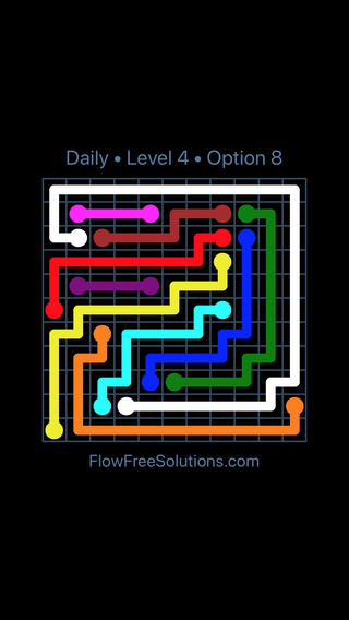 Solution and Answer to the Puzzle for Flow Date Saturday, January 12, 2019 Level 4