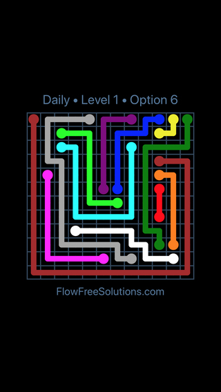 Solution and Answer to the Puzzle for Flow Date Sunday, January 13, 2019 Level 1