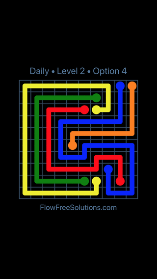 Solution and Answer to the Puzzle for Flow Date Sunday, April 10, 2016 Level 2