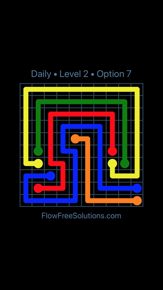 Solution and Answer to the Puzzle for Flow Date Sunday, January 13, 2019 Level 2