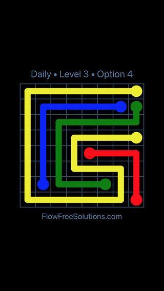 Solution and Answer to the Puzzle for Flow Date Sunday, January 13, 2019 Level 3
